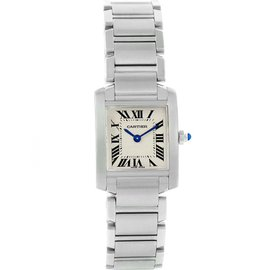 Cartier Tank Francaise W51008Q3 Stainless Steel & Silver Roman Dial 20mm Womens Watch