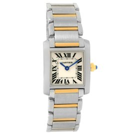 Cartier Tank Francaise W51007Q4 Stainless Steel/Yellow Gold Quartz 20mm Womens Watch
