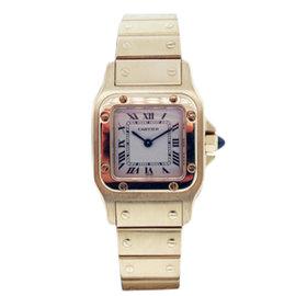 Cartier Santos 18K Yellow Gold Quartz 24mm Womens Watch
