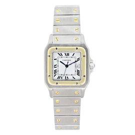Cartier Santos 1567 Two-Tone White Dial Watch