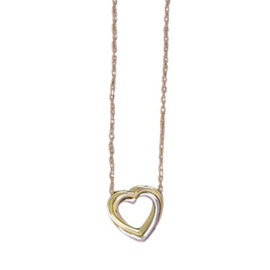 Cartier 18K Trinity Gold Heart Necklace