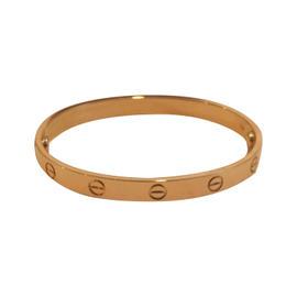 Cartier Love 18K Rose Gold New Screw Style System Bracelet Size 17