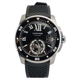 Calibre De Cartier Stainless Steel Sapphire, Spinel Mens Watch