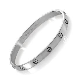 Cartier love bracelet white gold size 19