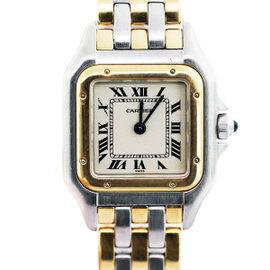 Cartier Panther Stainless Steel and 18K Yellow Gold 21mm Womens Watch