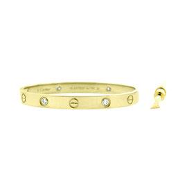 Cartier Love Bracelet Y/G Half Dia Size 16