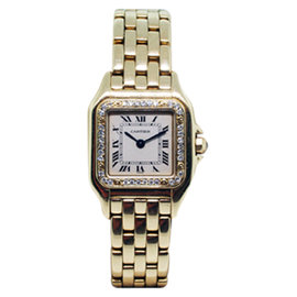 Cartier Panthere 18K Yellow Gold With Diamonds 22mm Watch