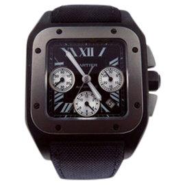 Cartier Santos 100 W2020010 Titanium & Canvas 46.5mm Watch