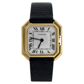 Cartier 18K Yellow Gold & Leather 27mm Watch