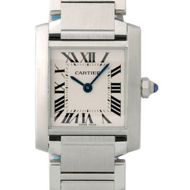 Cartier Tank Francaise Steel Silver W51008Q3 B&P Womens Watch