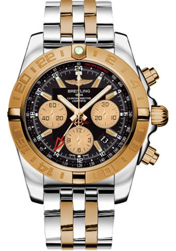 "Image of ""Breitling Chronomat Stainless Steel & 18K Rose Gold 44mm Mens Watch"""