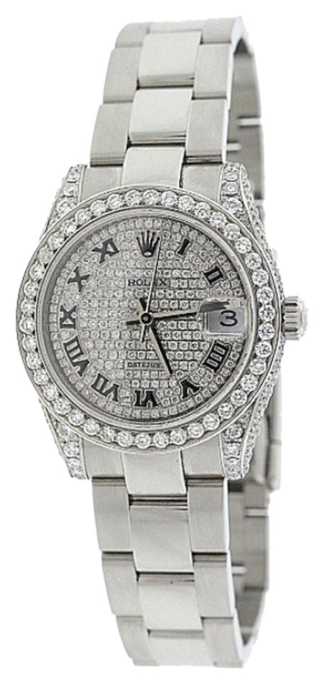 "Image of ""Rolex Datejust Stainless Steel & Diamond 31mm Watch"""
