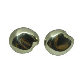 Tiffany & Co. Elsa Peretti Sterling Silver Bean Earrings
