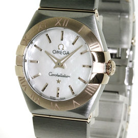 Omega Constellation 123.20.24.60.05.001 18K Pink Gold and Stainless Steel 25 mm Womens Watch
