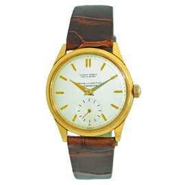 Ulysse Nardin Classic 18K Yellow Gold 33mm Mens Vintage Strap Watch