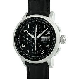 Maurice Lacroix Masterpiece Masterchrono Stainless Steel Strap Mens Watch