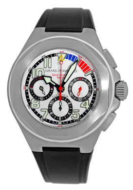 "Image of ""Girard Perregaux Laureato Stainless Steel & Rubber Strap Automatic"""