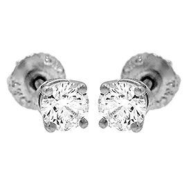 Tiffany & Co. Platinum & 0.76ct Diamond Earrings