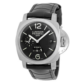 Panerai PAM 233 Luminor Stainless Steel & Leather Manual 44mm Mens Watch