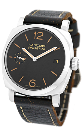 """Image of """"Panerai Radiomir Pam00514 Stainless Steel & Leather Manual 47mm Mens"""""""