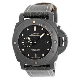Panerai PAM 508 Luminor Submersible Ceramic & Leather Automatic 47mm Mens Watch