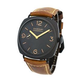Panerai PAM 504 Radiomir Ceramic & Leather Manual 47mm Mens Watch