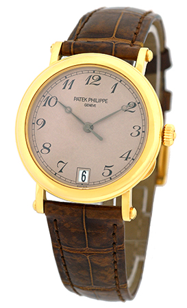 Patek Philippe 5053-J Officers 18K Yellow Gold & Leather Automatic