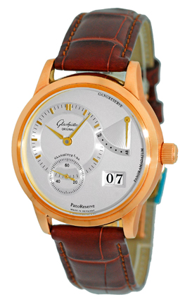 "Image of ""Glashutte Original PanoReserve 18K Rose Gold Mechanical Strap Watch"""
