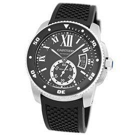 Cartier Calibre De Cartier Diver Stainless Steel Strap Mens Watch
