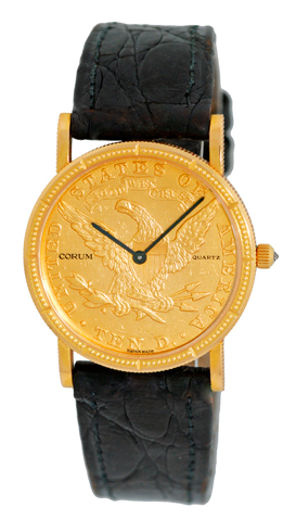 "Image of ""Corum 18K Yellow Gold 1891 $10 Ten Dollar U.s. Coin Dress Watch"""