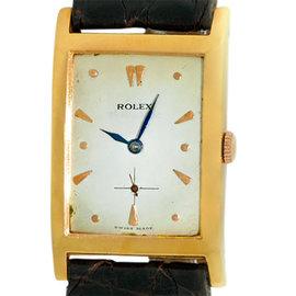 Rolex Precision 813 18K Yellow Gold Vintage Mens Watch