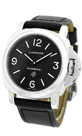 """Image of """"Panerai Luminor Base Logo Stainless Steel & Leather 44mm Mens Watch"""""""