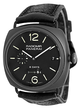 "Image of ""Panerai Pam384 Radiomir 8 Days PVD Stainless Steel & Ceramic 45mm"""