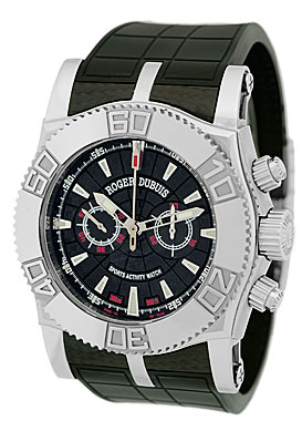 "Image of ""Roger Dubuis Easy Diver Chronograph Carbon Stainless Steel Watch"""