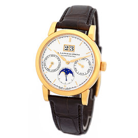 A. Lange & Sohne Saxonia Annual Calendar 18K Rose Gold Mens Watch