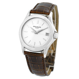 Patek Philippe Calatrava 5107-G 18K White Gold Automatic 38mm Mens Watch