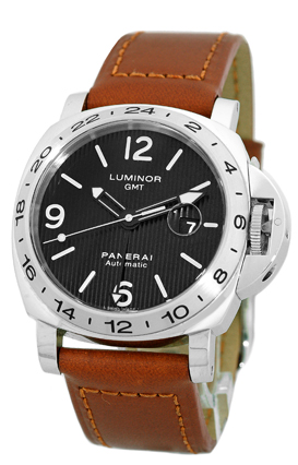 "Image of ""Panerai PAM 29 Luminor GMT Stainless Steel Strapwatch"""