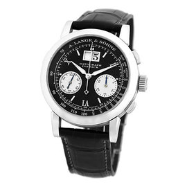 A. Lange & Sohne Datograph 403.035 F Platinum & Black Dial 39mm Mens Watch