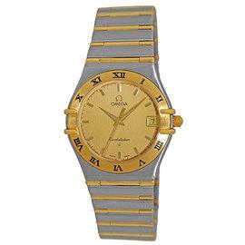 Omega Constellation 1212.10.00 Stainless Steel & 18K Yellow Gold Quartz 33.5mm Mens Watch