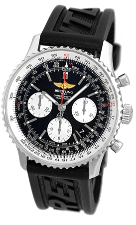 """Image of """"Breitling Navitimer Ab0120 Stainless Steel & Rubber Automatic 43mm"""""""
