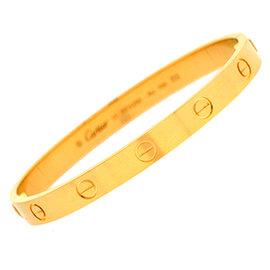 Cartier Love 18K Yellow Gold Bracelet Size 21