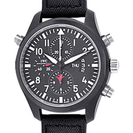 IWC Pilot Doppelchrono Top Gun IW379901 Chronograph Ceramic 46mm Strap Watch