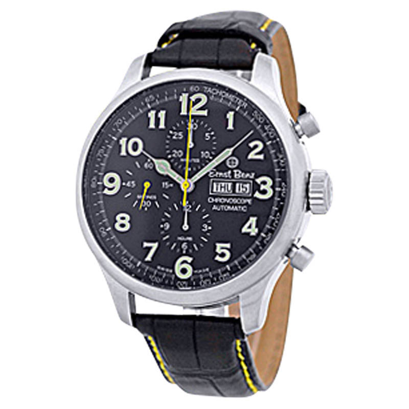 "Image of ""Ernst Benz Chronoscope Stainless Steel Mens Strap Watch 47mm"""