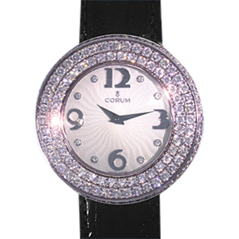 "Image of ""Corum Full Moon 02483569 0001 18K White Gold and Diamonds 36mm Watch"""