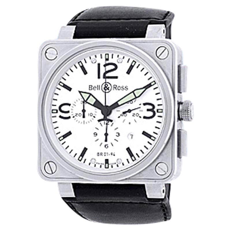 """Image of """"Bell & Ross BR 01-94 Chronograph Stainless Steel Strap Watch"""""""