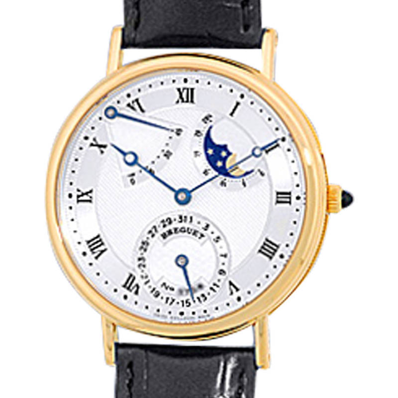 "Image of ""Breguet Classique Power Reserve 18K Yellow Gold Strap Watch"""