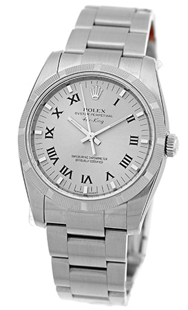 "Image of ""Rolex Air-King 114210 Stainless Steel Automatic 35mm Mens Watch"""