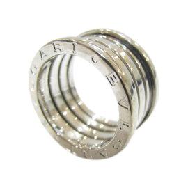 Bulgari B.Zero1 18K White Gold Ring Size 6.25