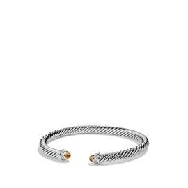 David Yurman Cable Classics Sterling Silver With Citrine & Diamonds Bracelet