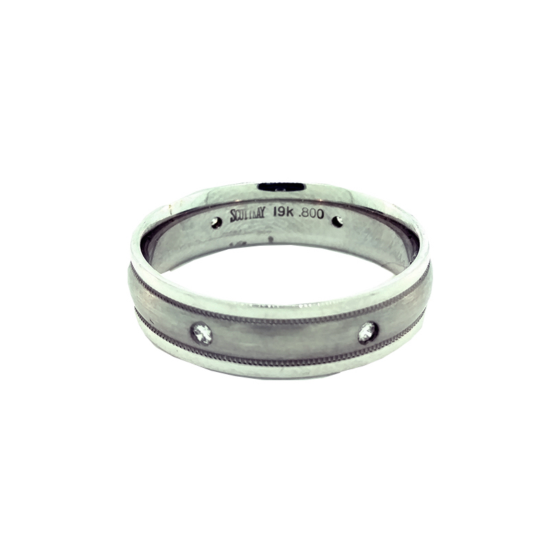 "Image of ""Scott Kay 19K White Gold with Diamonds Ring Size 10.0"""